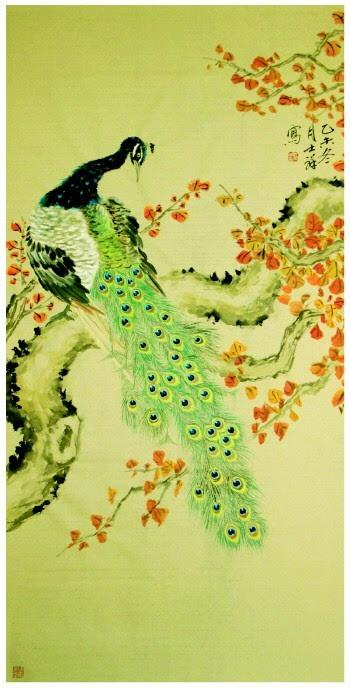 静山工笔仙鹤牡丹图片