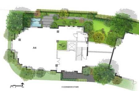 2日式庭院平面图