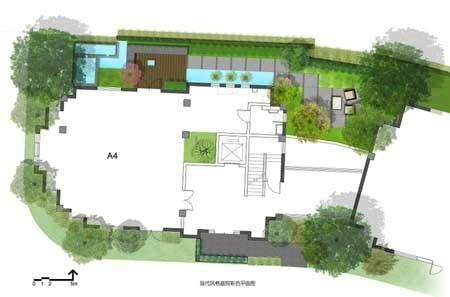 3现代庭院平面图