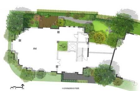 4中式庭院平面图