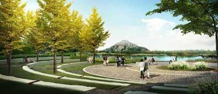 山东省青岛市柏果树河万达段生态河道景观设计