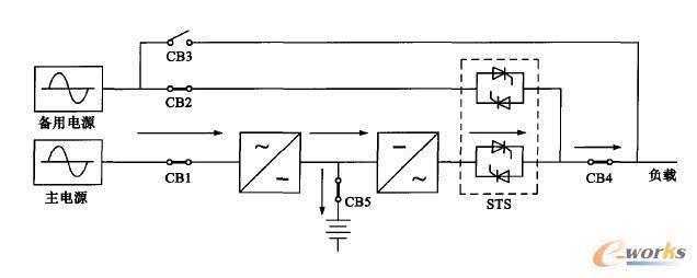 ups电池组中性线接线图
