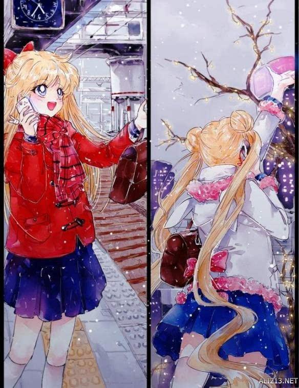 《美少女战士》同人画师笔下的奇幻美战!小兔长大了