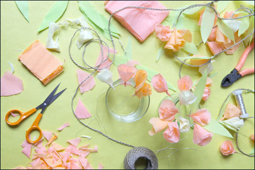 手工制作漂亮的折纸花帘