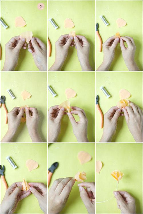 手工制作漂亮的折纸花帘图片