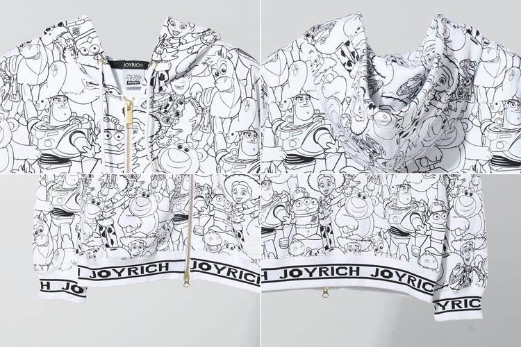 joyrich x toy story 满版印花连帽卫衣