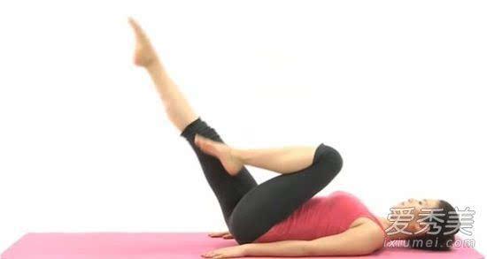 空中蹬自行车标准瘦腿动作又快又有效视频刮痧女士减肥教程腹部图片