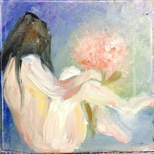 美女画家胡檬解密抽象派油画屡创天价