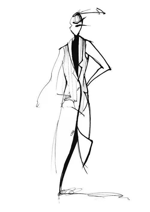 服装裙子褶皱手绘