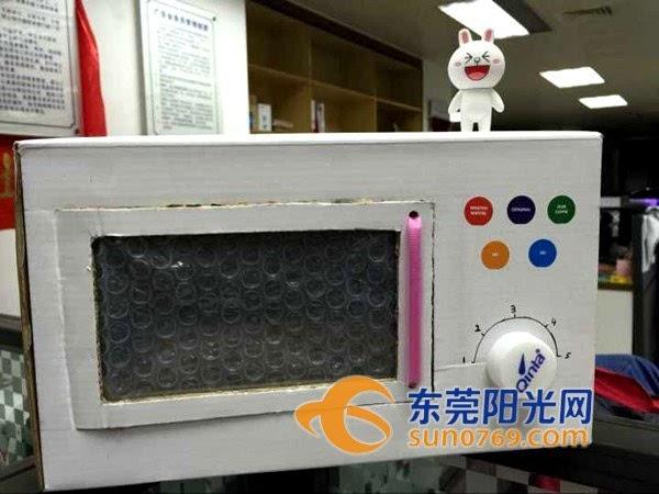 幼儿废品手工制作微波炉图片