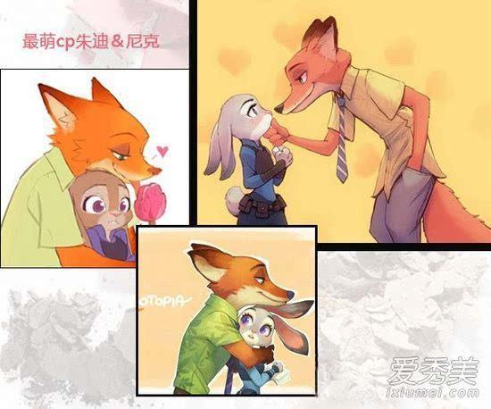 兔子朱迪&狐狸尼克图片