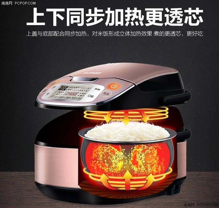 那么问题来了,这种加热结构在底部的简易电饭煲可以保证3-4l容量内胆