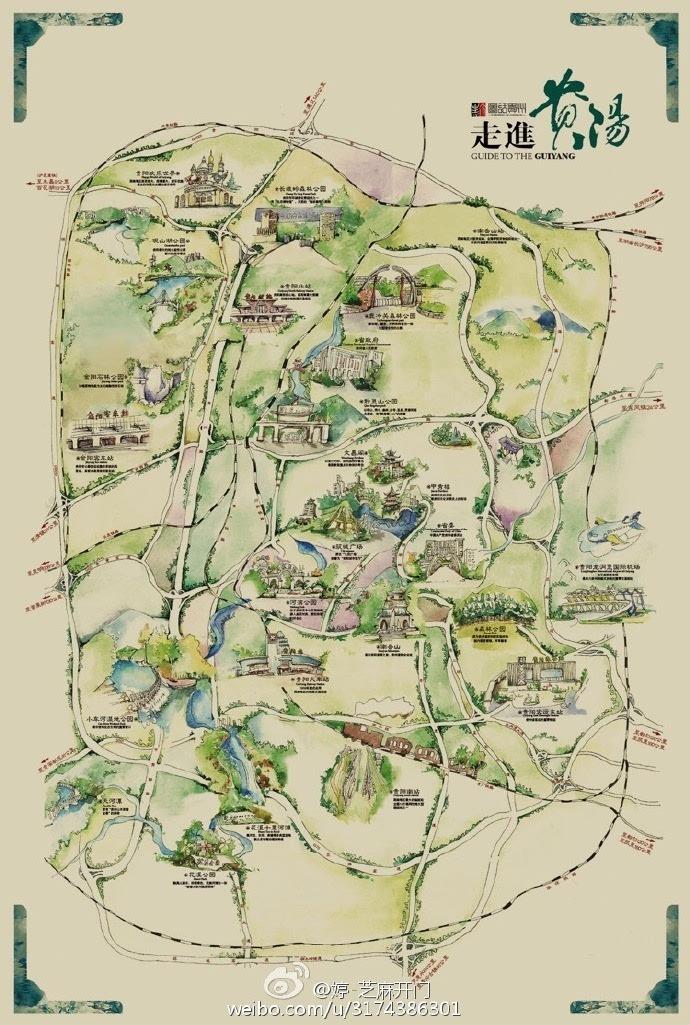 小女子手绘旅游地图火了 一图在手 玩转贵州