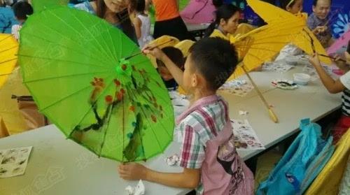 diy手绘中国元素伞