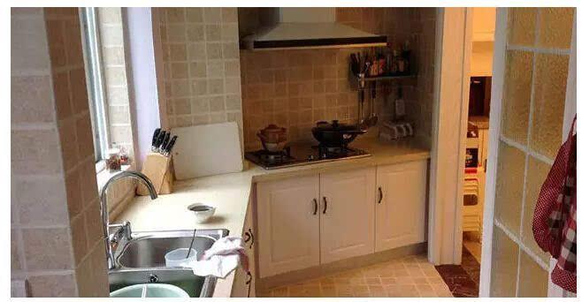 厨房移门一,全玻璃式的简洁欧式