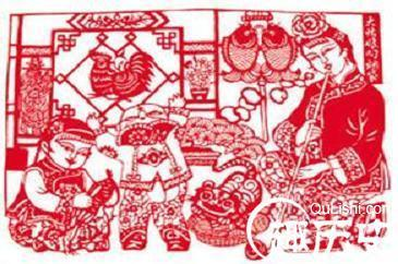 至于生活中常见的装饰性剪纸则更加丰富多彩