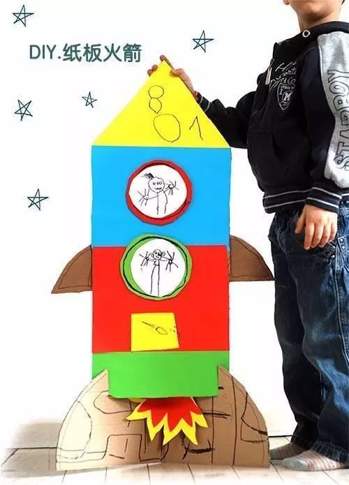纸箱做火箭的步骤图片