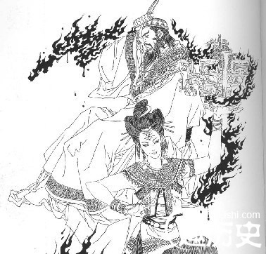 手绘q版皇帝图片