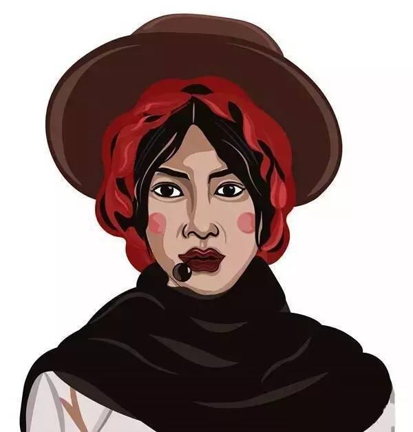 90后藏族女生的藏式人物插画惊艳了所有人