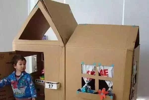 手工制作立体纸房子孩子能进去