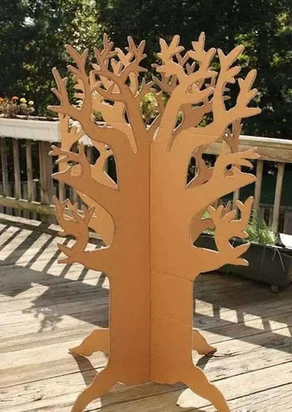 纸箱制作树步骤