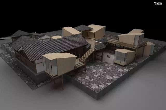 参赛选手:杨俊杰 铜奖作品:《山水间——民宿酒店外观设计》 参赛图片