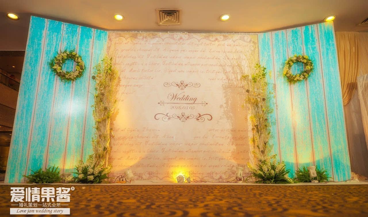 婚庆森林背景设计图