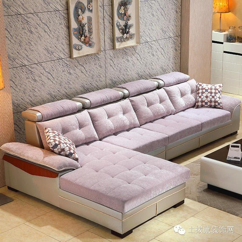 欧式转角布艺沙发