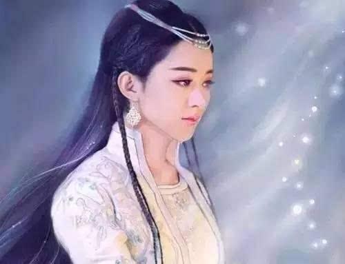 赵丽颖这位萌妹纸在古装戏中十分清新小女人,但是由于太瘦小的原因