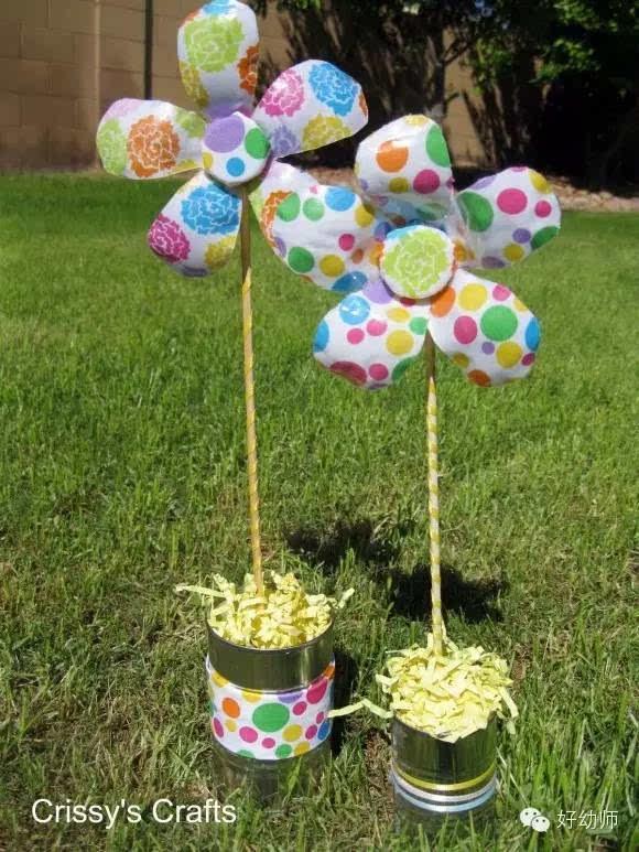 你想过用塑料瓶制作花朵吗