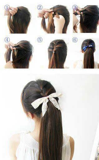 教你各种扎头发长发短发教程?(二)