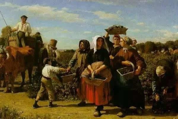 欧式红酒庄园油画