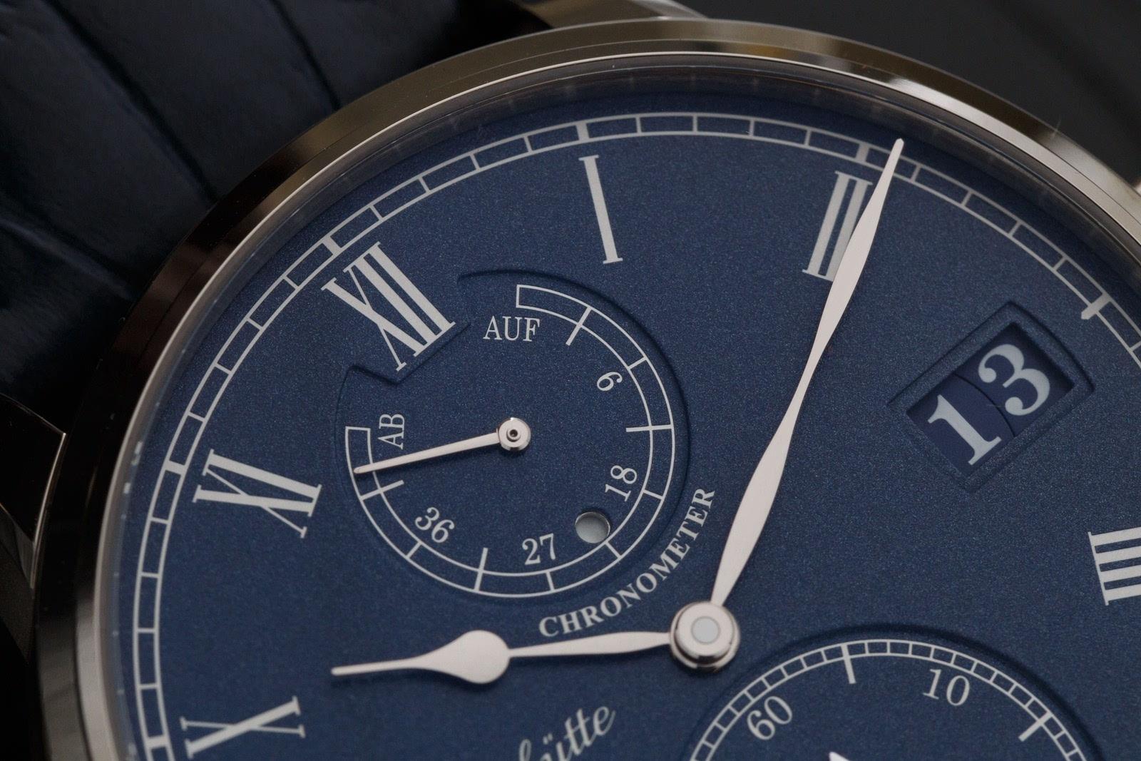 2016年新款海军蓝面格拉苏蒂议员天文台腕表