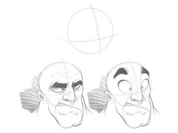 鼻子手绘步骤图片