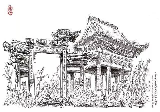 他朝饮沧海水,夜沐大漠风,只为画遍中国古建筑