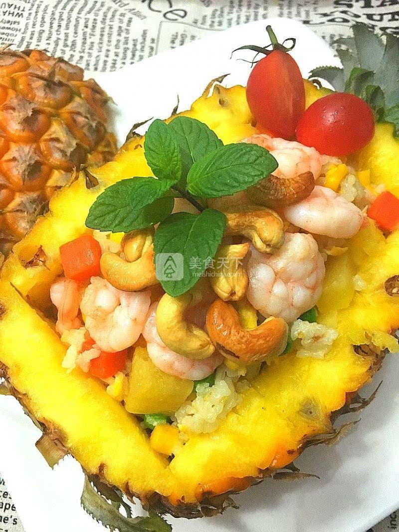 泰式菠萝海鲜饭图片