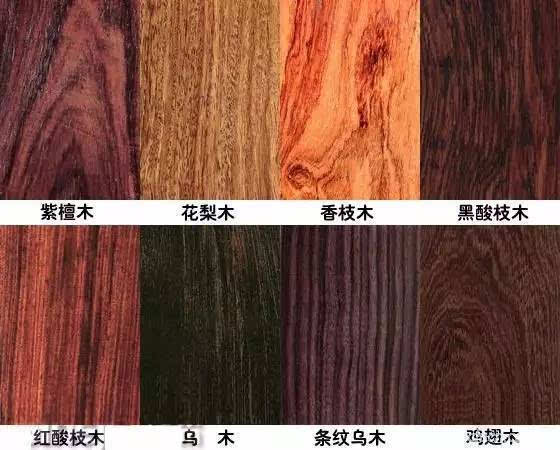 我们可以从红木家具用材