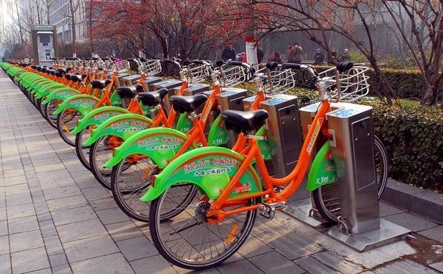 太原:绿色出行,保护公共自行车从我做起