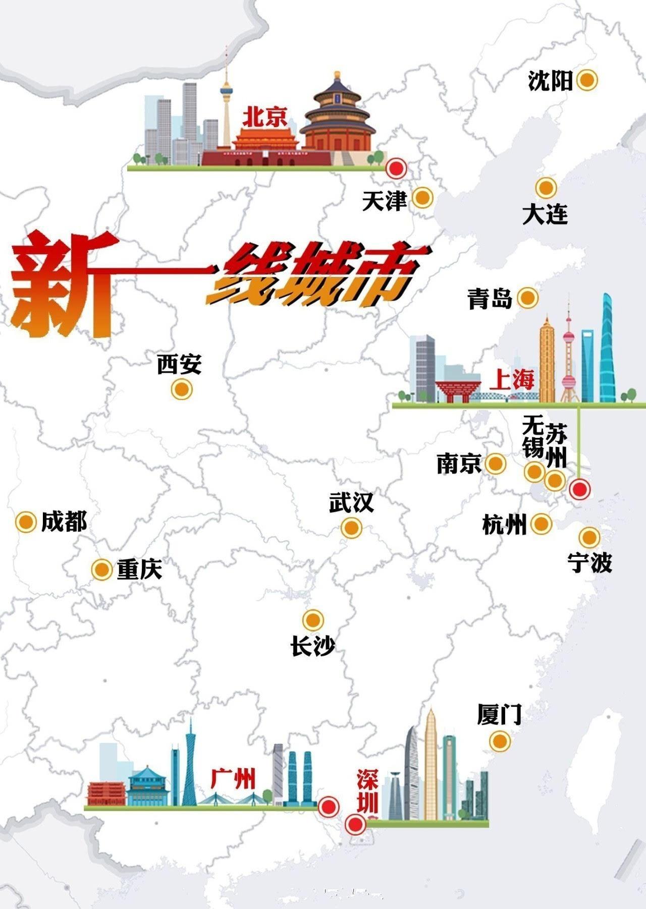 新一线城市排名_全国新一线城市排名