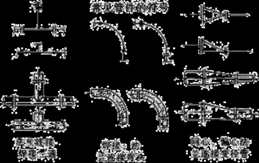 管道的连接方式主要有:法兰连接,承插焊连接,螺纹连接,对焊连接(图示图片