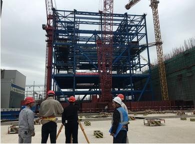 蚌埠电厂二期#3锅炉第三层钢结构一次验收合格