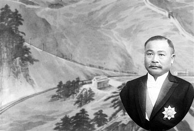 """""""中国铁路之父""""詹天佑图片"""