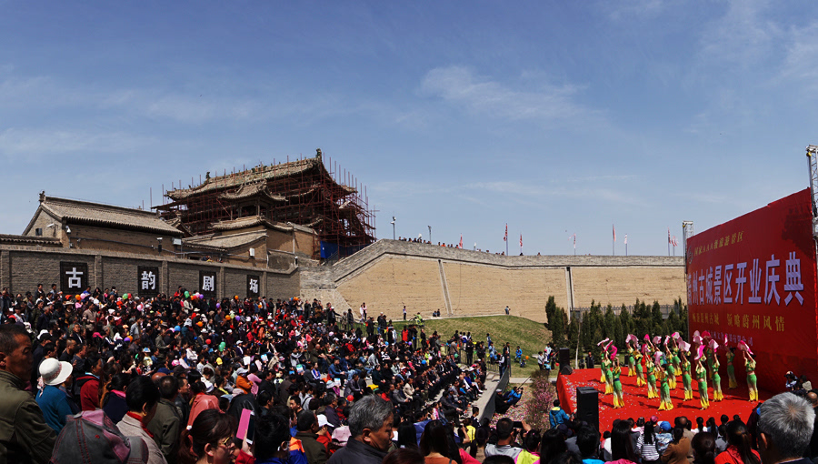 蔚州古城景区开业运营实现开门红