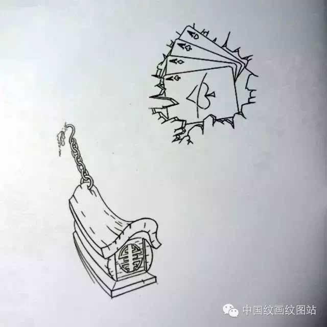 字母纹身手绘图分享展示