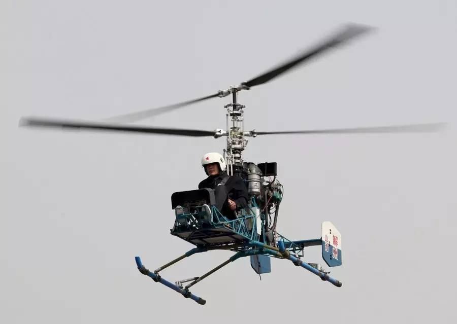 太厉害了!5年花费60余万,山西一农民自制直升机试飞成功.图片