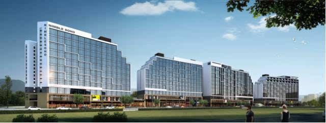 敏捷·华美国际总建筑面积达30万平方米,项目由4栋稀缺 loft公寓,3栋图片