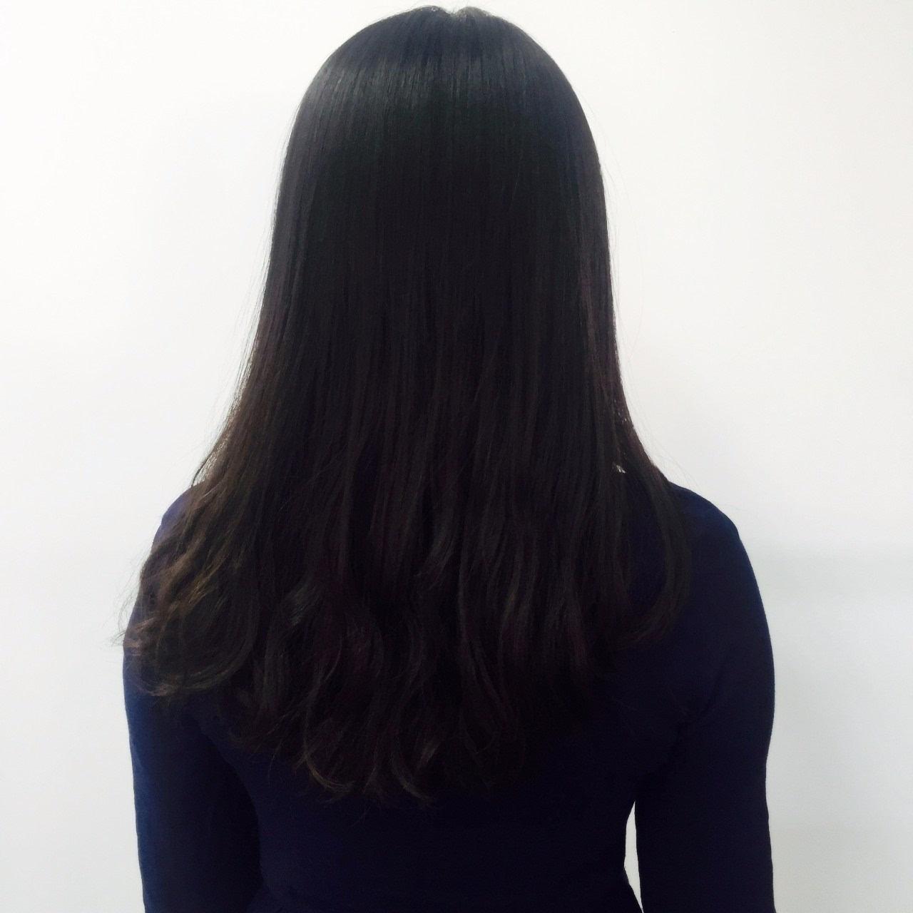 棕黑色长发