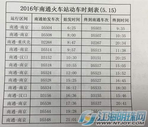 南京南通车_宁启铁路动车时刻表公布南京早七晚八均有开