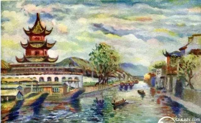 油画里的民国南京 这风景媲美莫奈笔下的巴黎