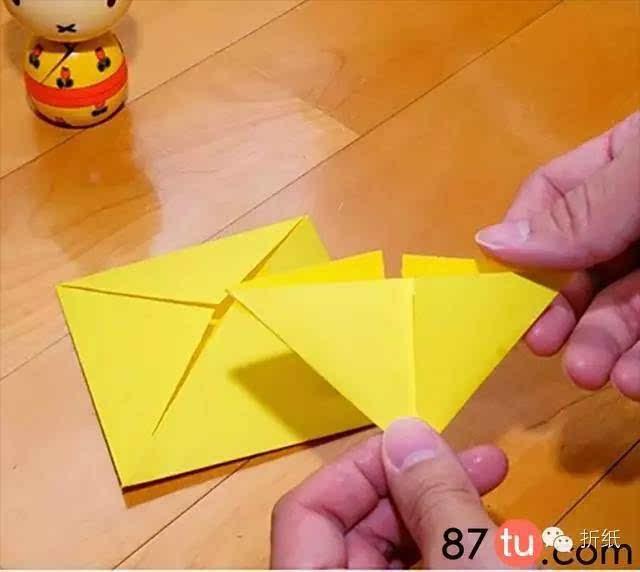 亲子手工撑开的小雨伞折纸图解教程
